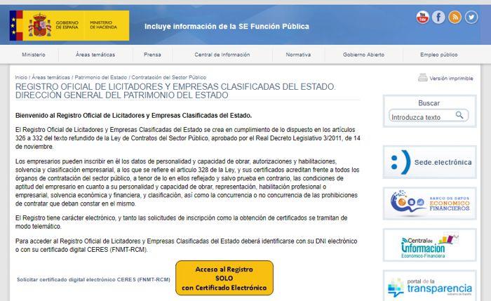 Registro Oficial de Licitadores ROLECE